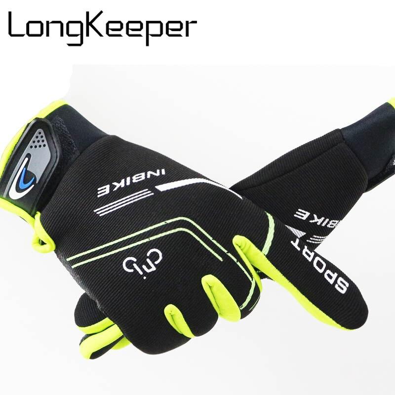 LongKeeper Men Brand Touched Screen Gloves High Elasticity Unisex Mittens Winter Women Gloves 4 Colors Christmas Gift G252