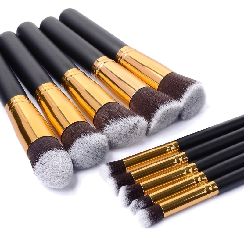 Gel 10pcs Mini Professional Soft Cosmetic Make up Brush Set Woman's Toiletry Kit Beauty Makeup Brushes & Tools Case hot sale 2016 soft beauty woolen 24 pcs cosmetic kit makeup brush set tools make up make up brush with case drop shipping 31