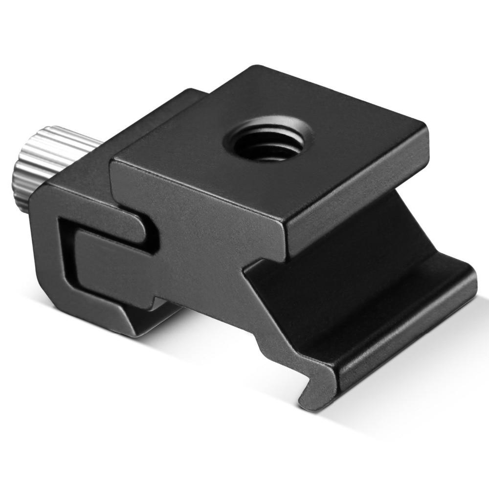 Image 5 - Kaliou 1 шт. камера металлический Холодный башмак Горячий кронштейн для вспышки адаптер с 1/4 штативом винт для осветительной стойки штатив-in Аксессуары для фотостудии from Бытовая электроника