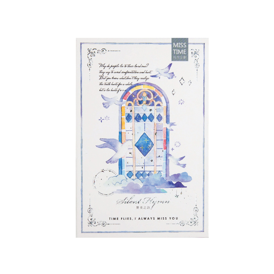 30Sheets/Set 2018 New Merry Christmas Luminous A Poem Of Praise Postcard /Greeting Card/wish Card