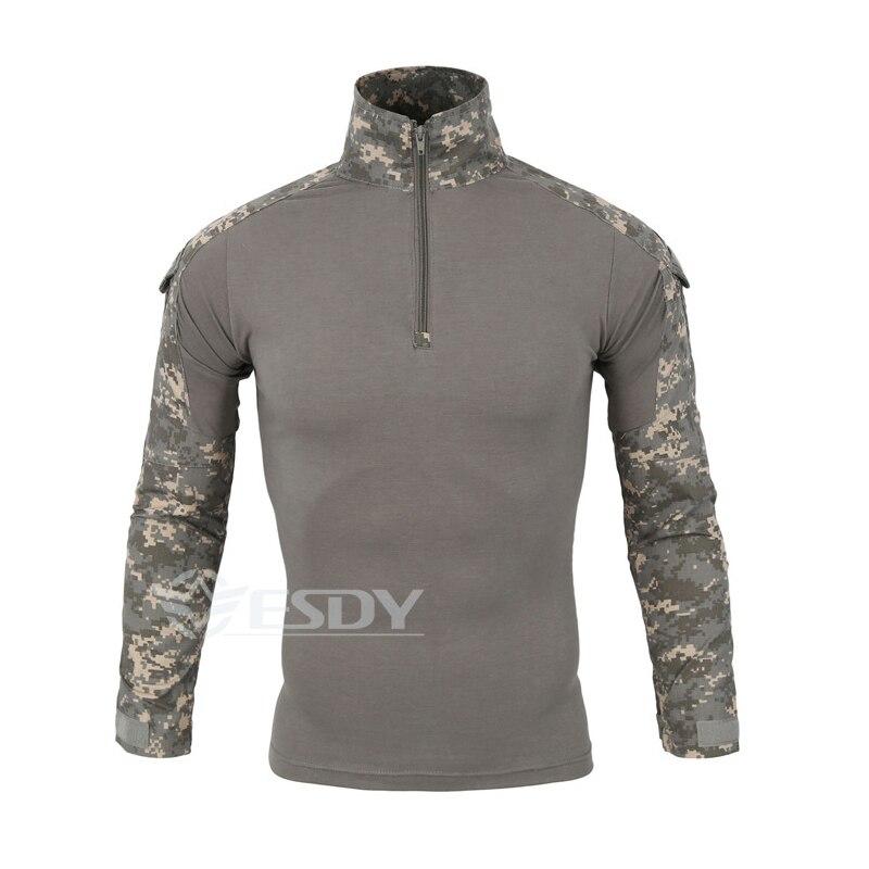 2019 hommes Camouflage sport chemises respirant poids léger en plein air randonnée chemises chaleur Camping chemise pour hommes livraison gratuite A655