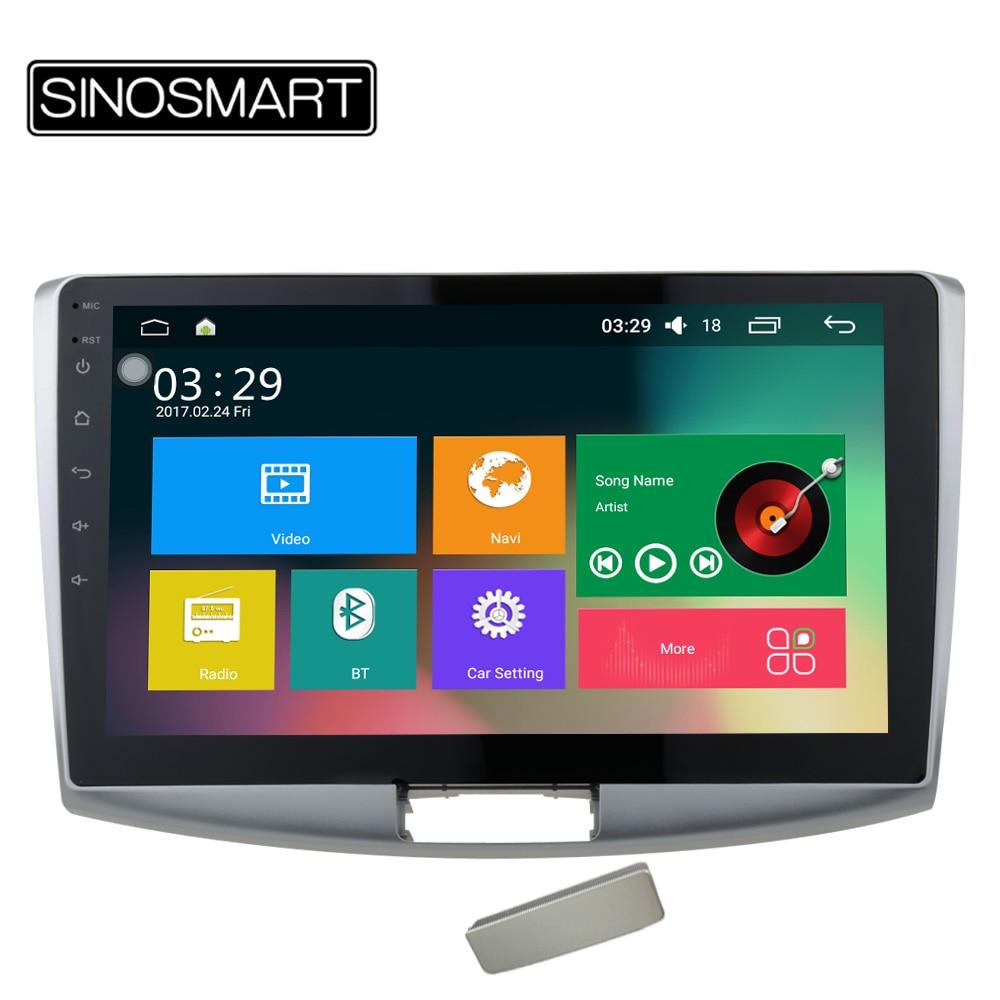 Prix pour Sinosmart quad core ram 2g/1g android 5.1 voiture navigation gps lecteur pour volkswagen magotan cc passat soutien 4g canbus facultatif