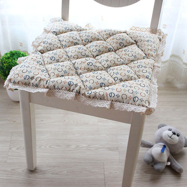 Flower Crochet Hollow Bubble Pad Kitchen Chair Cushions Dining Seat Cushion  Pastoral Office Chair Mat Quilted