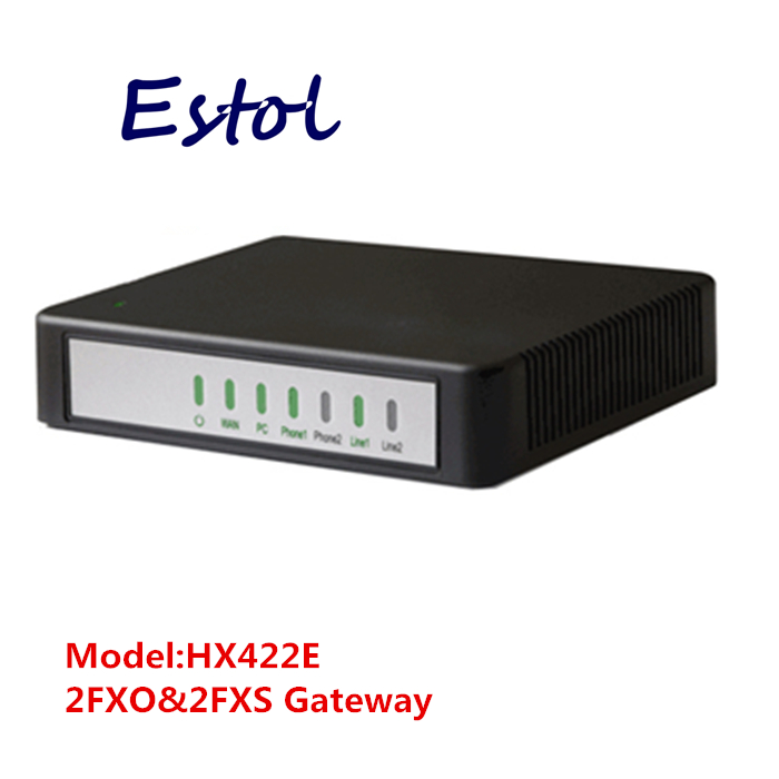 Newrock 2 FXO 2 FXS SIP VoIP Gateway analog VoIP adapter Elastix compatible Mitel certificated ATA