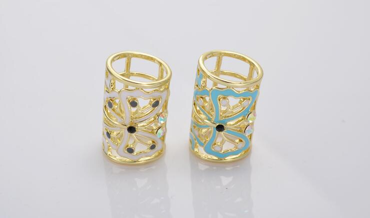 one piece fashion gold color round mix color enamel butterfly sacrf buckle xyh033
