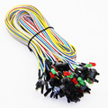 Power Switch ON OFF Reset Cable Cord Line For PC Computer Motherboard Case Line With Red+Green Light