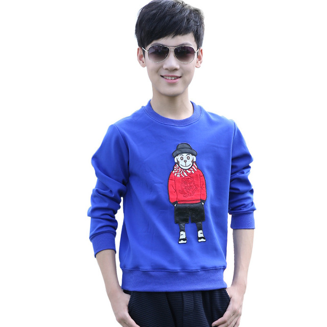 Boy Casual Cotton Clothes Shirt LongSleeve Tops T-shirt  Kids Korean Style Shirt Long Sleeve T-shirt Teenager Long Shirt YL183
