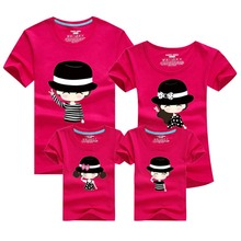 1Piece Summer Family Matching Clothes New Family Look T Shirts Father Mother