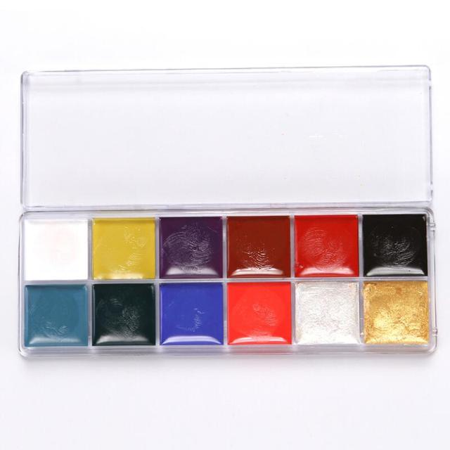 12 Colors Face Body Art Painting Body Paint Oil Painting Tattoo Makeup Cosmetic Bodypainting Halloween Party 2