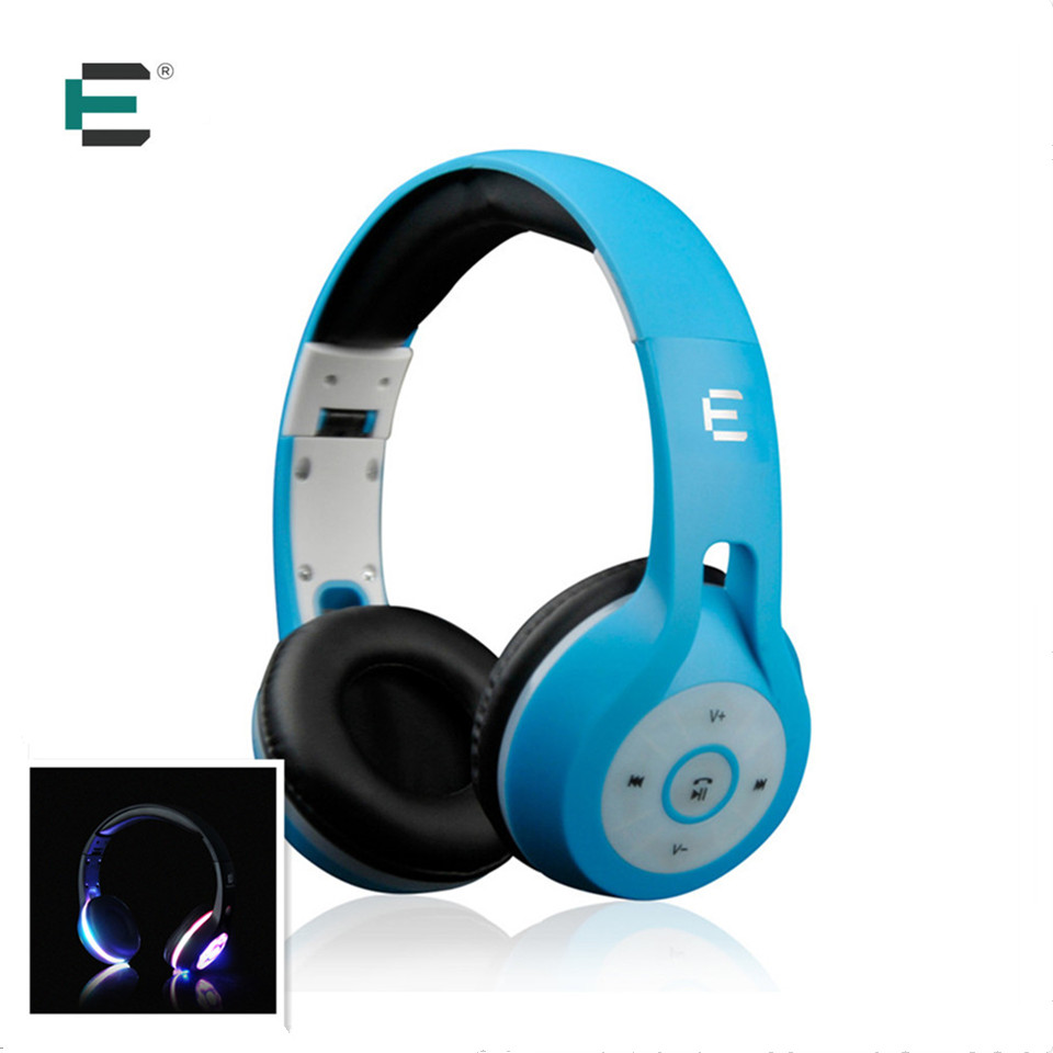 цена на ET Brand BT0036 LED Glowing Luminous Headphone Bluetooth 4.2 Wireless Stereo Headsets earbuds with Mic for iPhone Samsung