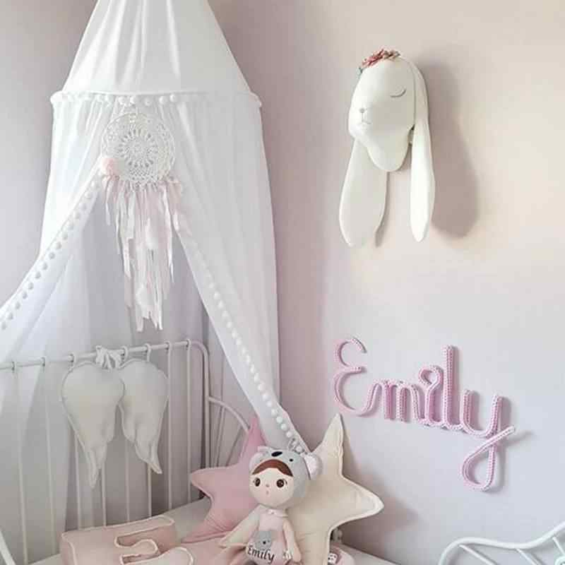 Nordic Cotton Baby Kids Dome Mosquito Net Anti Mosquito Princess Bed Canopy Girls Room Decoration Bed Canopy Pest control Reject