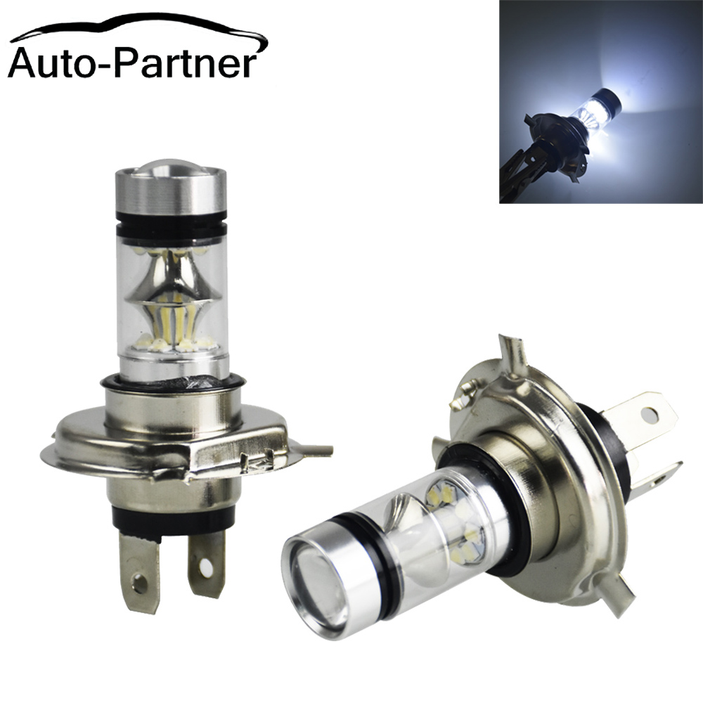 Car Headlight Bulbs(led) Beautiful 2pcs Car Led H4 Fog Lights White 100w Bulbs 20 Smd Car Headlights Dc12v 24v Lamp For Audi A4 B5 B6 B8 A6 C5 C6 A3 A5 Q3 Q5 With The Most Up-To-Date Equipment And Techniques