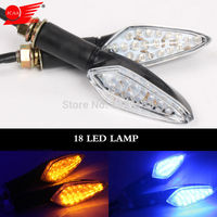 New Hot Sale Indicator 4 Color Light Lamp 18 LED Motorcycle Turn Signal Light Universal Black