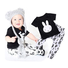 Newborn 2016 Toddler Baby Boy Clothing Sets Spring Animal T-Shirt + Pants 2pcs Casual Baby Boy Clothes Sets Cartoon  Boy Clothes