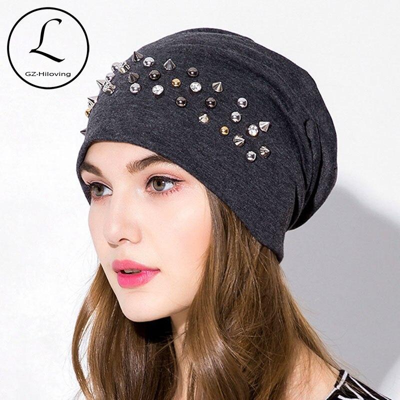 Provided Women Beanie Hats Warm Polyester Shine Pearls&rhinestones Beanies Women Girl Winter Hats Turban Skull Beanie Female Bonnet Easy To Repair Apparel Accessories Girl's Hats
