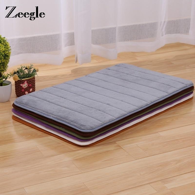 US $6.87 44% OFF Zeegle Thickening Memory Foam Soft Rug Kitchen Mat Water  Absorbing Carpet Bathroom Anti Slip Rugs Mats Solid Entrance Doormats-in ...
