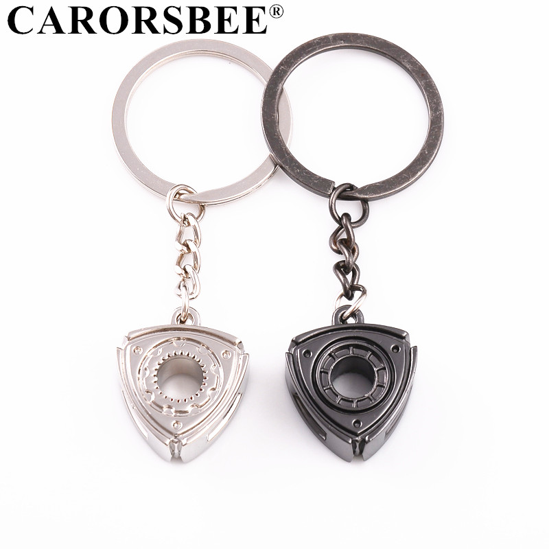 Car Key Rings Auto Accessories Motor Rotor Turbo Keychain Metal zinc alloy Car Key Chains for Mazda 3 6 cx-5 RX7 RX8 Men Gift image
