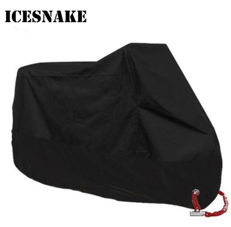 ICESNAKE Motorcycle Cover Uv Protector Scooter Bike Waterproof Dustproof Moto Rain Indoor Lock-holes Design