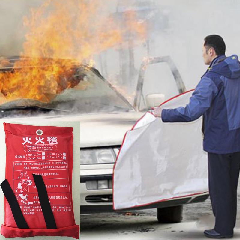 2Mx2M Emergency Blanket Fire Shelter Emergency Survival Fiberglass Fire Flame Retardant Safety Cover Fire Blanket House Escape