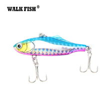 Walk Fish 1Pcs 6cm 14g Winter Fishing Lures Plastic VIB Hard Bait Lead Inside Vibration Fishing