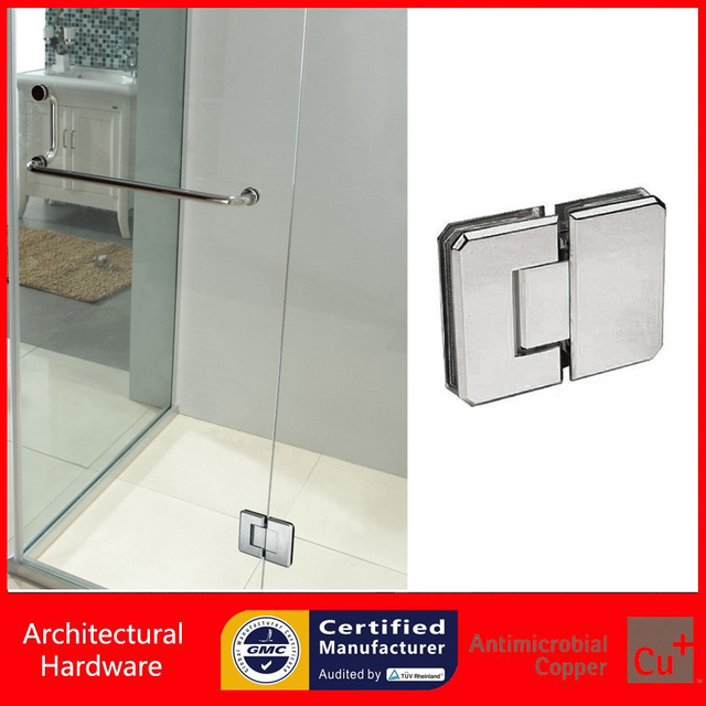 180 Degree Shower Door Hinge Pure Copper Spring Hinges Glass Clamp