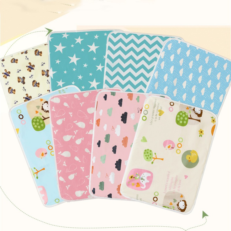 Baby Portable Washable Changing Mat Infants Cute Waterproof Foldable Mattress Children Game Floor Reusable Diaper Hot Sale