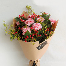 Single Color Craft Paper Flowers Packaging Korean Flowers Wrapping Paper Packaging Florist Wrapping Paper Flower Bouquet 20 Pcs