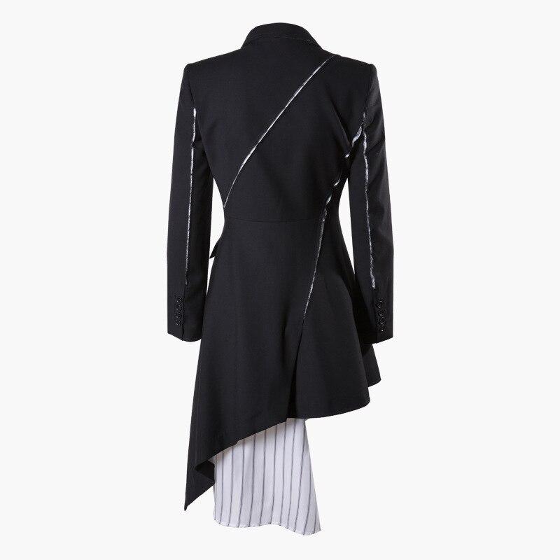 SuperAen Europa moda mujer vestido 2019 primavera nuevo vestido de algodón de manga larga Mujer costura rayas salvaje ropa-in Vestidos from Ropa de mujer    3