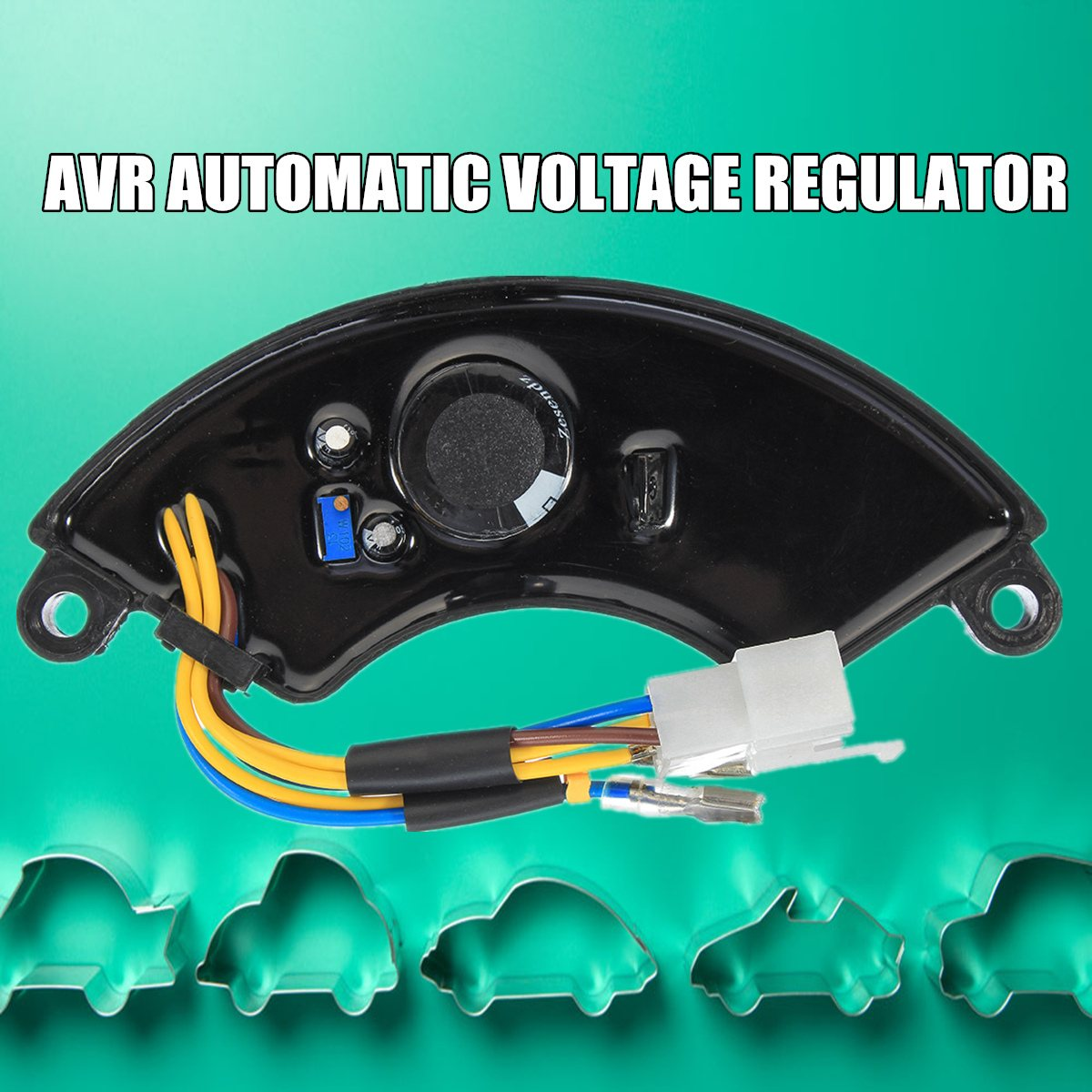 5KW-6.5KW AVR Automatic Voltage Regulator Rectifier For Gasoline Generator Black 188F/190F Adjusting Range 160V-260V