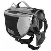 Practical Pet Backpack Dog Saddlebags Medium And Large Dogs Harness Bag For Outdoor Hiking Camping Training