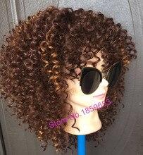 !новые курчавый длины средней кудрявый афро синтетический волосами младенца парик женщин