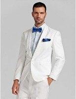 Shawl Collar White One Button Men Suits Custome Homme Fashion Tuxedos Formal Wedding Blazer Jacket Pant
