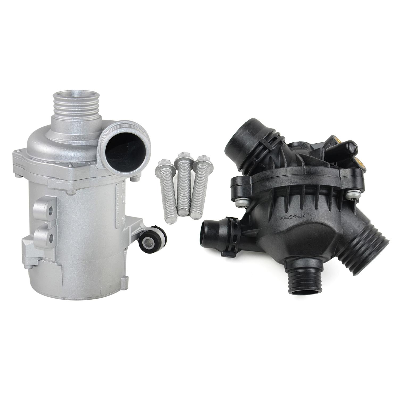 Water Pump+Thermostat+Bolt Kit 11517586925 For BMW 128i 325i 328i 525i 528i X3 Z4