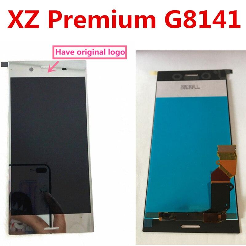 10 pcs noir argent rose rouge LCD pour SONY Xperia XZ Premium affichage écran tactile numériseur assemblée G8142 G8141 pièces de rechange