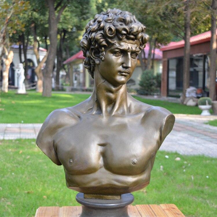 La statue en bronze de David ornements de tête de corps art européen réel ameublement bijoux cadeau mobilier de bureau