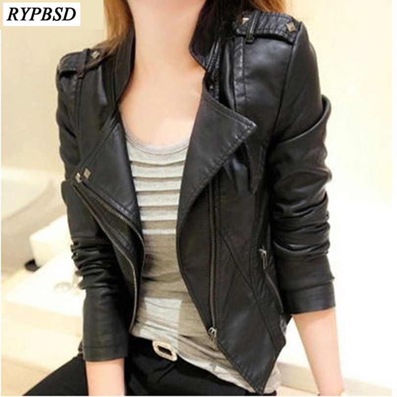 Cazadora Mujer Cuero   Leather   Jacket Women Short Slim Design PU   Leather   Ladies Jacket Zipper Jaquetas De Couro Feminina