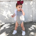 Cotton Clothes New Girl Color Clothing Triangle  Sleeve 0-3 Years Old Baby Climb Clothes In Summer Baby Body