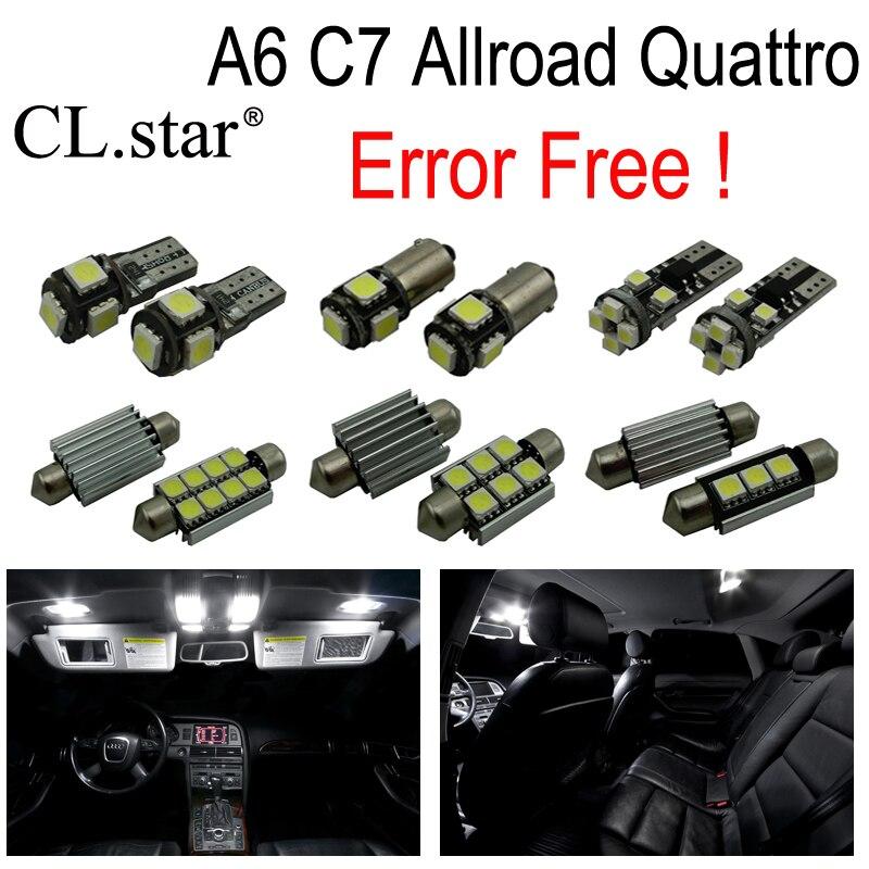 ФОТО 16pcs canbus error free Reading LED lamp interior dome light kit for Audi A6 C7 Allroad Quattro (2012+)