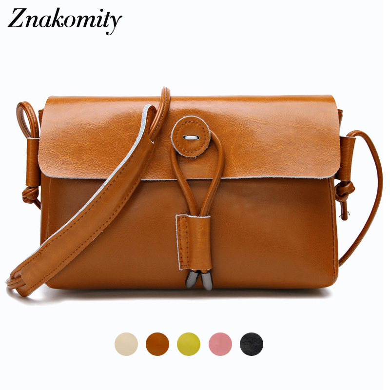 Znakomity Luxury small genuine leather crossbody bags for women 2018 Black brown shoulder messenger bags cross body bag woman