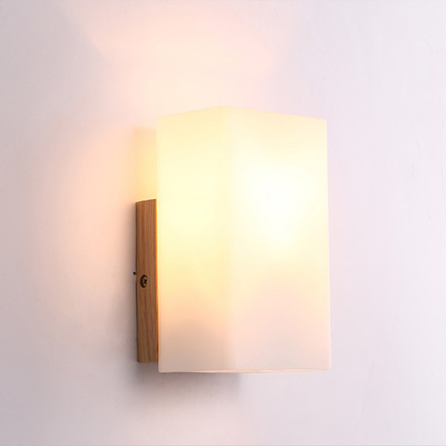 Japanese Creative Aisle Lamp Modern Minimalist Wood Wall Sconces Corridor Living  Room Bedroom Bedside Lighting Fixture