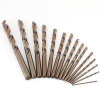 15pcs 1 5 10mm HSS M35 Cobalt Twist Drill Bit Woodworking Metal Drilling Tool Power Tools