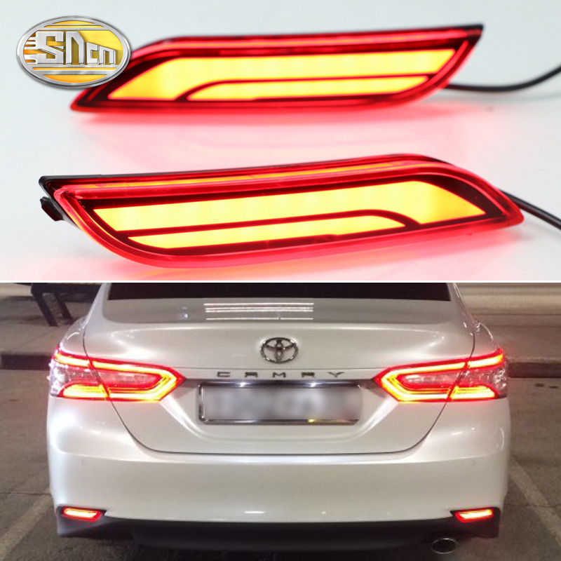 For Toyota Camry 2018 2019 Rear Bumper LED Tail Light Driving Lamp Turn Signal Lamp Accessories