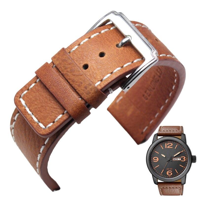 fashion durable men women watchbands 20mm 22mm brown