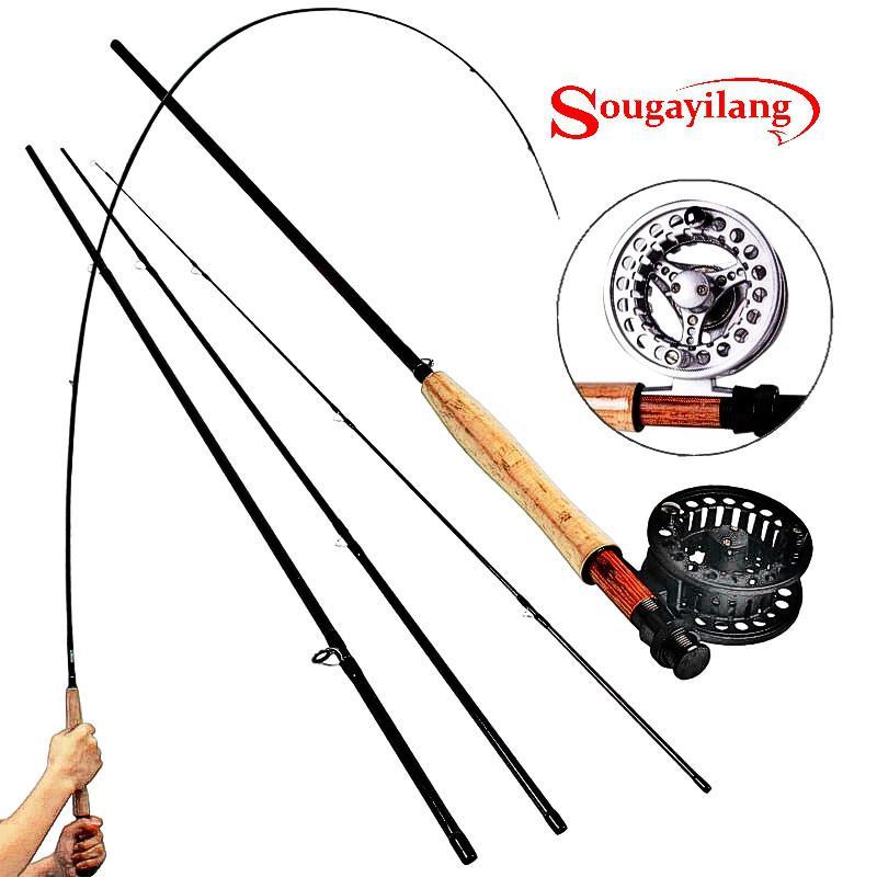 Sougayialng 8.86FT #5/6 canne à pêche à la mouche Set 2.7 M canne à mouche et moulinet à la mouche Combo avec ligne de leurre de pêche boîte ensemble matériel de canne à pêche - 5