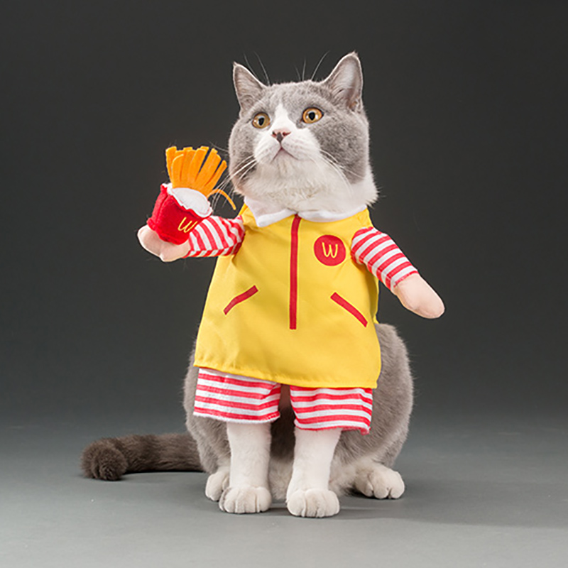 Funny Uncle McDonald Costume for Pets Cat Apparel Clothes for Dogs  Halloween Christmas Cosplay Outfit Clothing Costume for a cat-in Cat  Clothing from Home ... - Funny Uncle McDonald Costume For Pets Cat Apparel Clothes For Dogs