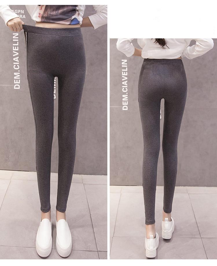 High Quality Cotton Leggings Side stripes Women Casual Legging Pant Plus Size 5XL High Waist Fitness Leggings Plump Female 38