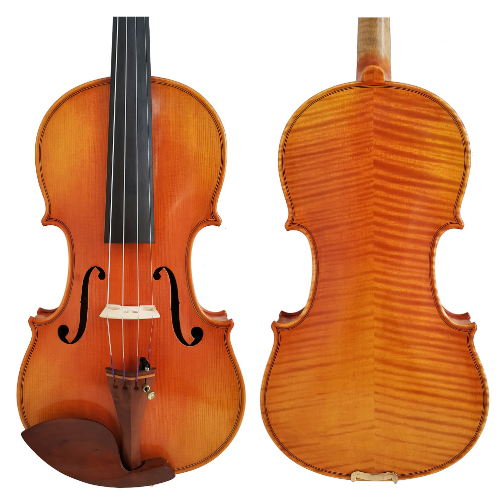 Free Shipping Copy Stradivarius 1716 100% Handmade Oil Varnish Violin + Carbon Fiber Bow Foam Case FPVN04 free shipping copy stradivarius 1716 100% handmade oil varnish violin carbon fiber bow foam case fpvn04 8