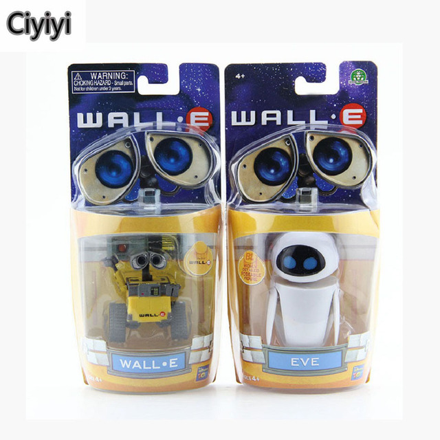Wall-E Robot Wall E EVE PVC Action Figure Collection Toys Anime Wall-E Robot Display Model Dolls Jouet Birthday Gift Brinquedos