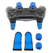 4pcs Thumbsticks + L2 R2 Extended Triggers Button Cover For PS4 Controller 4 Colors(China)