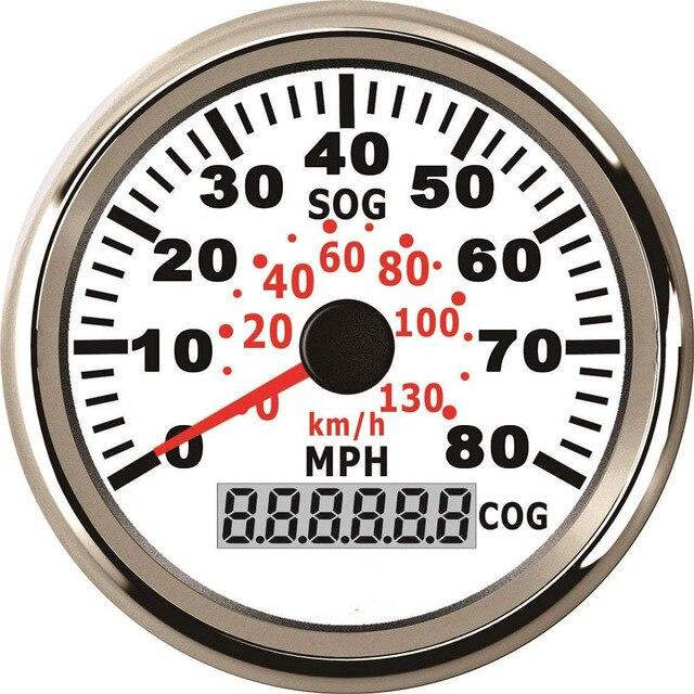 85mm Motorcycle GPS Speedometer 80MPH 130km/h Digital Speedo Gauge